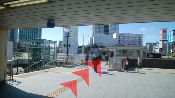 JR津田沼駅からの道案内01