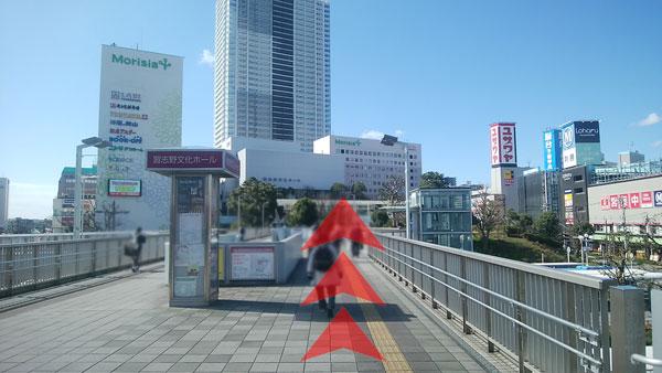 JR津田沼駅からの道案内02