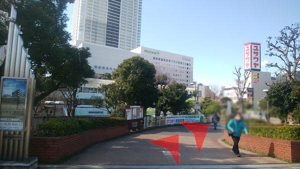 JR津田沼駅からの道案内03
