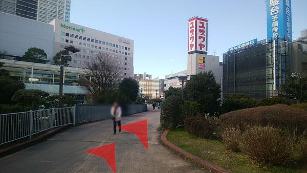 JR津田沼駅からの道案内04