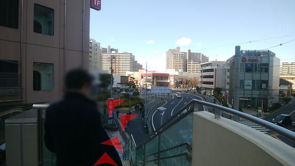 JR津田沼駅からの道案内06
