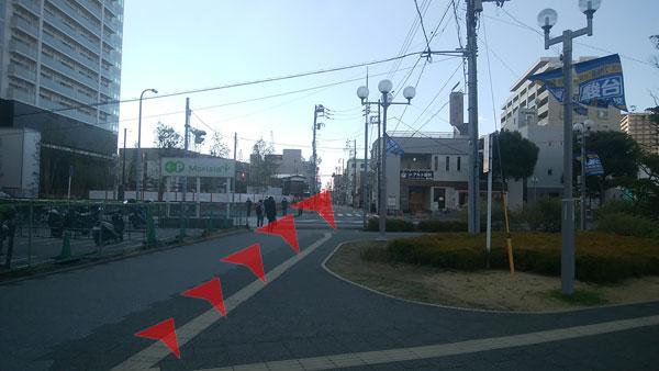 JR津田沼駅からの道案内07