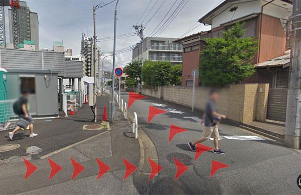 JR津田沼駅からの道案内09